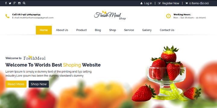 specialist portfolio image Front End Of Restaurant Website.